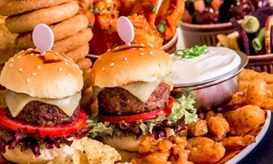 Champions Sports Bar: Three Mini Burgers and Three House Beverages for Up to Four from Champions Sports Bar