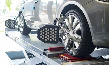 Up to 58% Off on Wheel Alignment / Balancing - Car at Goodyear The Woodlands Complete Auto Care