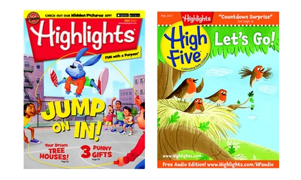 Free Gift With Highlights Magazine Subscription (Choose From Four Titles)