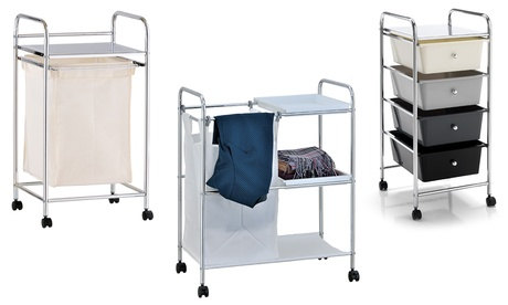Cesto portabiancheria, carrello o cassettiera per il bagno