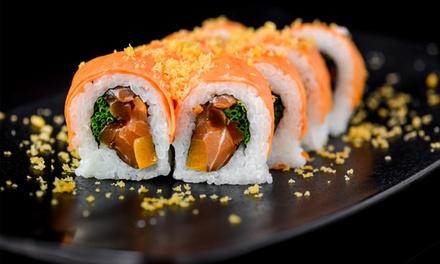 הסושיה בראשלצ: ארוחת סושי זוגית ב 79 ₪, ארוחה זוגית עד הבית הכוללת בקבוק שתייה ואת המשלוח ב 99 ₪. אופציה למגש מסיבה