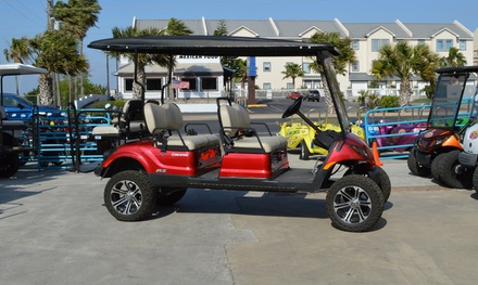 Golf Cart or Bike Rentals at SPI Fun Rental and Island Surf Rental (Up to 40% Off). Nine Options Available.