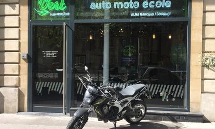 Permis moto 20h avec ou sans code dès 339 € chez Groupe Vert Auto Moto Ecole Saint Mandé/ Nation