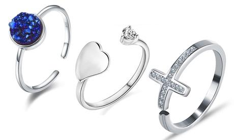 1, 2 o 3 anillos con cristales Van Amstel
