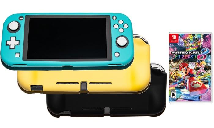 Nintendo Switch Lite Mario Kart 8 Bundle With Protective