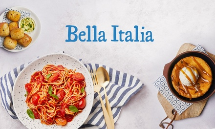 groupon.co.uk - Two- or Three-Course Italian Meal for Two at Bella Italia, Multiple Locations (55% Off)