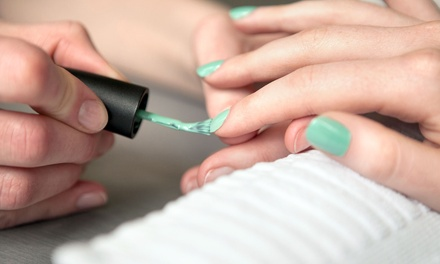 Deluxe Manicure, Deluxe Pedicure, or Both at True Colors Concept Salon and Spa (60% Off)