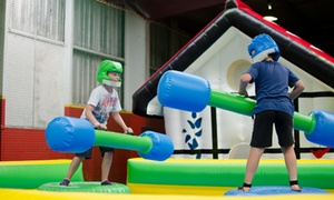 Inflatable World - Warners Bay: Entry to Inflatable World - Warners Bay: One ($9), Two ($18), Three ($27) or Four People ($36) (Up to $60 Value)