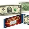 Lucky 7's Genuine US Legal Tender $2 Bill