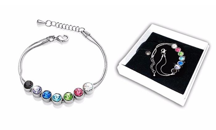 Swarovski Crystal 7 Day Bracelet Groupon Goods