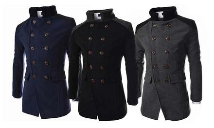Herren-Mantel in Schwarz, Navy oder Grau