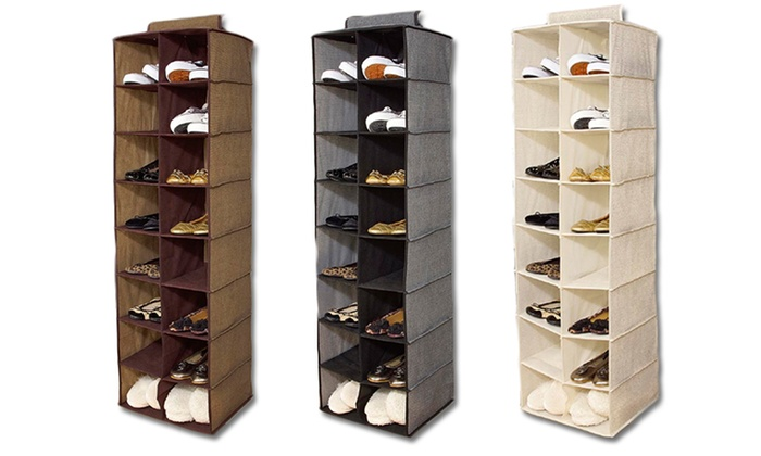 Simplify 16 Pocket Hanging Closet Shoe Organizer: Simplify 16 Pocket Hanging  Closet Shoe ...