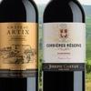 2 différents vins rouges