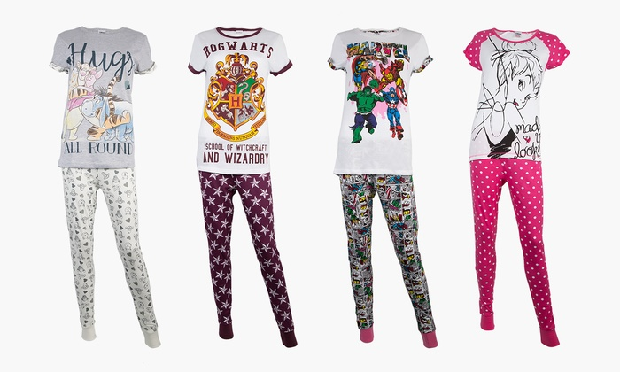 Women's Disney or Marvel Character Pyjamas for £11.99