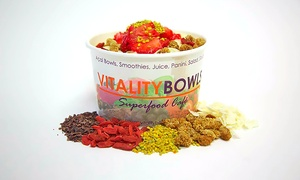 Vitality Bowls: Açaí Bowls, Paninis, Smoothies, and More at Vitality Bowls (Up to 43% Off). Two Options Available.