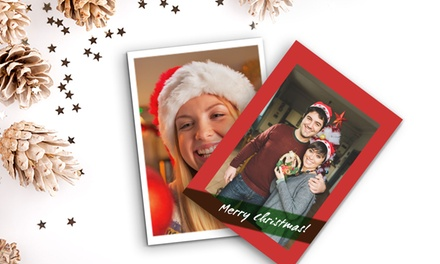 5, 10, 20, 30 or 50 Personalised 5x7 Flat Christmas Cards from Printerpix (Up to 78% Off)
