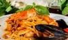 Menu di pesce più vino a Monza