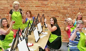 Liquid Canvas: Painting Class with Beverages for One, Two, or Four at Liquid Canvas (Up to 44% Off)