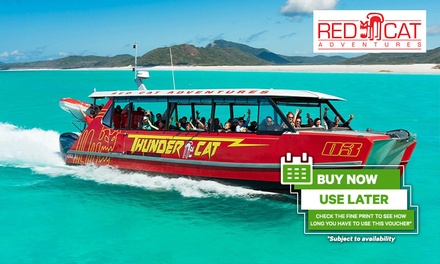 Whitsundays Thundercat Day tour with Snorkeling, Afternoon & Morning Snack; All inclusive with transfers up to four