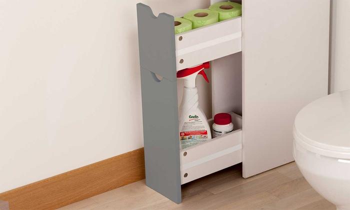Meuble de rangement pour wc groupon shopping - Meuble rangement wc conforama ...