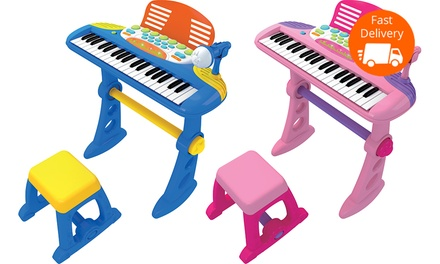 $39 for a Kids' Electronic Keyboard in Blue or Pink
