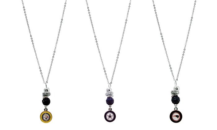 Stainless Steel NFL Charm Necklace