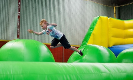 Inflatable World - Warners Bay: 2-Hour Entry for 1 ($9.50), 2 ($18.50), 3 ($27) or 4 People ($35) (Up to $60)