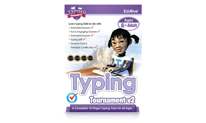 Learn to Type Typing Tutor Tournament v2 Software for Ages 6+ for Mac or PC  for £5 (51% Off)