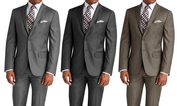 90% Off on Men's Slim-Fit Suits (2-Piece) | Groupon Goods