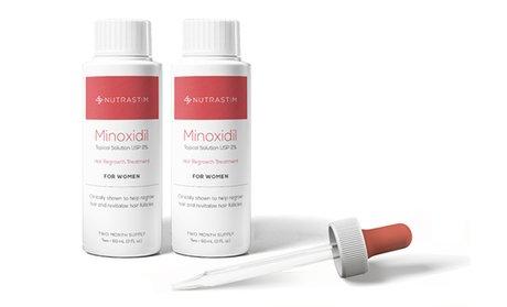 NutraStim Women's Hair-Regrowth Serum (2-Pack)