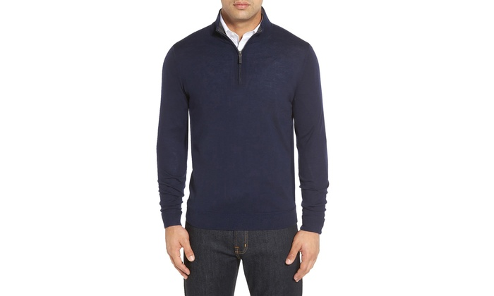 Men's Quarter-Zip Sweater (Size S)