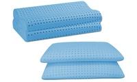 2 cuscini in memory fresh forati disponibili nel modello saponetta o ortocervicale
