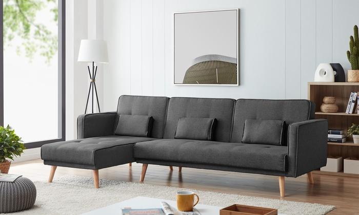 Astonishing Up To 59 Off Jackson Three Seater Sofa Bed Groupon Ibusinesslaw Wood Chair Design Ideas Ibusinesslaworg