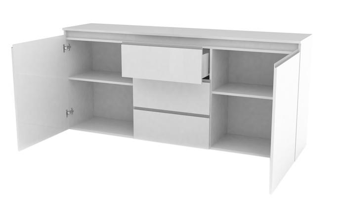 Buffet 2 portes 3 tiroirs | Groupon Shopping