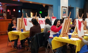 Cocktails & Paint Inc: Social Painting Class for One, Two, or Four from Cocktails & Paint Inc (Up to 46% Off)
