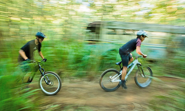 North Shore Explorers - North Shore Explorers: Bike Rental with Bike-Park Admission for One, Two, or Four from North Shore Explorers (Up to 49% Off)