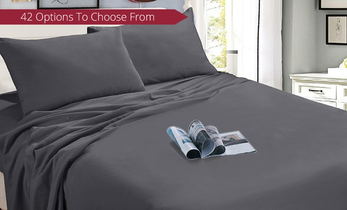 From $35 for an Egyptian Cotton Flannelette Sheet Set in Choice of Colour (Don't Pay up to $119.95)
