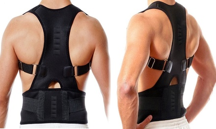Adjustable Posture Support Brace and Double Compression Belt: One ($15.95) or Two ($25.95)