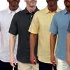 Men's Short Fin 100% Linen Shirts