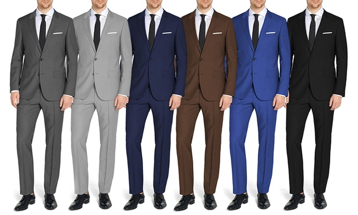 Eleganza Platinum Men's Modern Fit Suits (2-Piece)