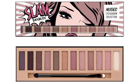 Slam Beauty 12-Shade Nude Eyeshadow Makeup Palette b61ec650-bfde-11e7-b514-00259069d7cc