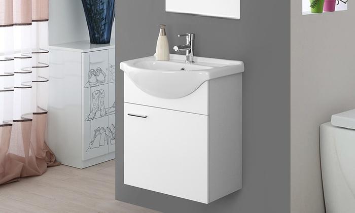 Mobile sospeso e specchio groupon goods for Mobile bagno senza specchio