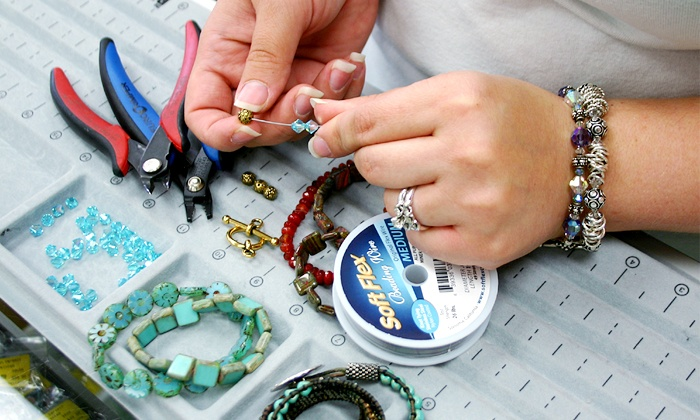 Crystal Creations Bead Institute - Woodhaven: 2.5-Hour Intro to Beading Class and Bracelet Kit at Crystal Creations Bead Institute (Up to 58% Off)