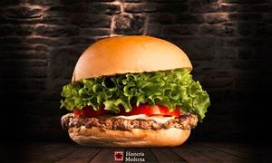Hosteria Moderna: Menu Burger Gourmet e Prosecco per 2 persone all'Hosteria Moderna (sconto 56%). Valido in 2 sedi
