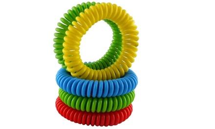 Pack di 4 braccialetti antizanzare