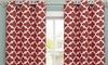 """Heavy Woven Kyra Geometric 76""""x84"""" Grommet Window Panel Pair : Heavy Woven Triple-Layered Kyra Geometric 76""""x84"""" Grommet Window Panel Pair"""
