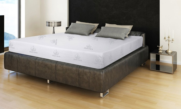 matelas m moire de forme aloe vera d houssable 85kg m3 sampur groupon shopping. Black Bedroom Furniture Sets. Home Design Ideas