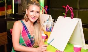 Alenas Paint Party: 3 Std. Mal-Party mit einer ausgebildeten Künstlerin für 1-4 Personen bei Alenas Paint Party (bis zu 64% sparen*)