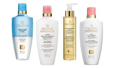 Detergenti e struccanti viso Collistar, disponibili in vari formati