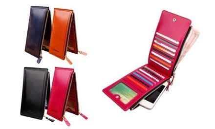 Fino a 3 portafogli con 18 slot per schede disponibili in vari colori